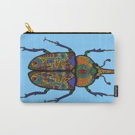 Psychedelic Rhino Beetle Carry-All Pouch