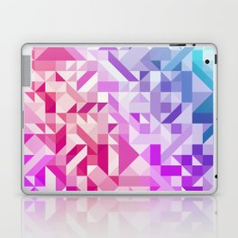 Colorful Geometric Pattern Saturated Rainbow Pattern Design (Red Pink Purple Blue) Laptop & iPad Skin