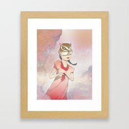 Chipmunk Girl Framed Art Print