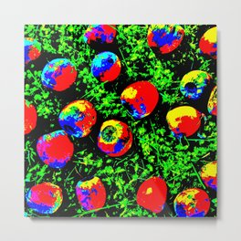 Colorful Nuts Metal Print