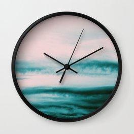 Ocean Romance #1 #abstract #decor #art #society6 Wall Clock