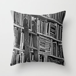 Book Shelves Throw Pillow