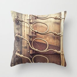 Coiled Lines Throw Pillow