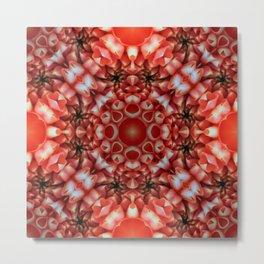 Crazy Flower Pattern - Flower Print - Alien Flower Metal Print