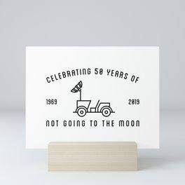MOON LANDING, 50 YEARS, ROVER Mini Art Print