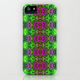 ZigZag Green Geodes iPhone Case