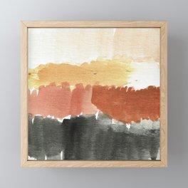 Abstract in Rust n Clay Framed Mini Art Print