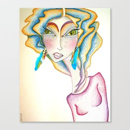 Lady 03 Canvas Print