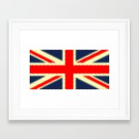 union jack Framed Art Prints featuring Union Jack by deff