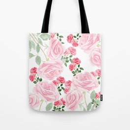 pink rose patterns Tote Bag