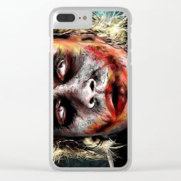 The Joker Painted Clear iPhone Case