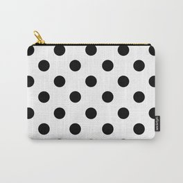 POLKA DOT DESIGN (BLACK-WHITE) Carry-All Pouch