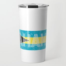 Bahamian National Flag Vintage Bahamas Distressed Gift Travel Mug