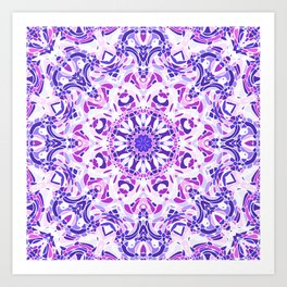 Violet Embrace Mandala Art Print