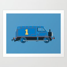 Tommy the Van Engine Art Print