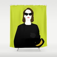lana Shower Curtains featuring Lana Banana by AliyaStorm