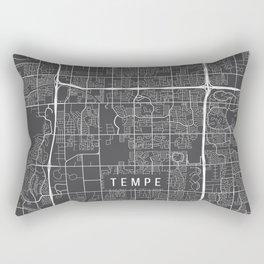 Tempe Map, Arizona USA - Charcoal Portrait Rectangular Pillow