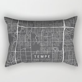 Tempe Map, Arizona USA - Charcoal Portrait Rectangular Pillow