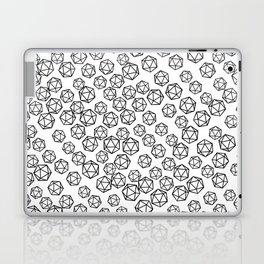 D20 Pattern - B&W Laptop & iPad Skin