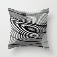 mid century Throw Pillows featuring Mid-Century Mod by Patti Toth McCormick