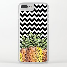 abacaxi chevron Clear iPhone Case