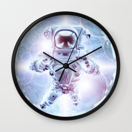 Infinite Galaxy Wall Clock
