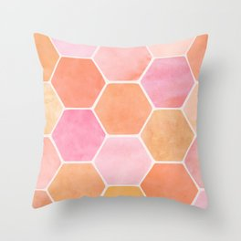 Desert Mood Hexagon Print Throw Pillow