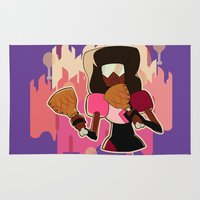 steven universe Area & Throw Rugs featuring Steven Universe - Meat Beat Mania Garnet by luvusagi