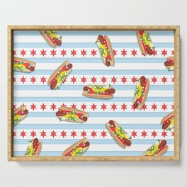 Chicago Hot Dogs Serving Tray