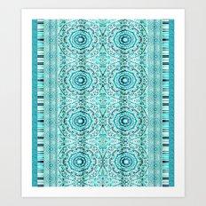 Minty Mandalas Art Print