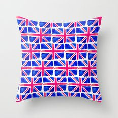 Watercolour Union Jack  Throw Pillow