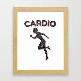 Cardio Running Female Framed Art Print