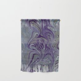 Purple, Blue, & Green Marbled Wall Hanging