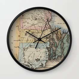 Vintage Map of Rhode Island (1823) Wall Clock