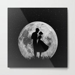 love in big moon Metal Print