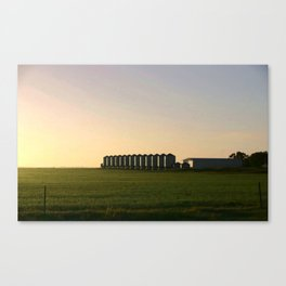 Wheat Silos Canvas Print