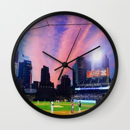 SD Padres Stadium at Night Wall Clock