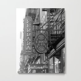 Little Italy Cafe Metal Print