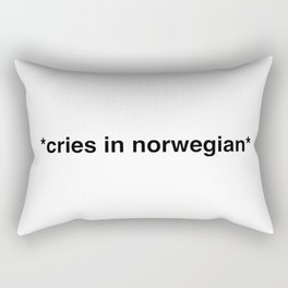 Cries in norwegian Rectangular Pillow