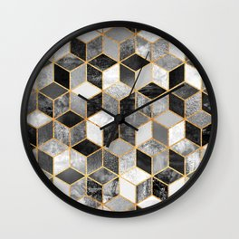 Black & White Cubes Wall Clock