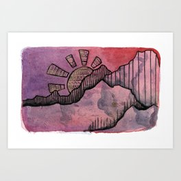 Purple Skies Art Print