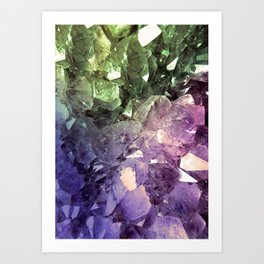 Two Tone Crystal Geode Art Print