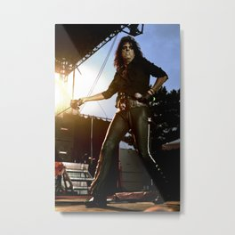 Alice Cooper Fence Stance Metal Print