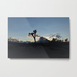 Joshua Tree Number One Light in Storm Clouds at Sunset  Metal Print