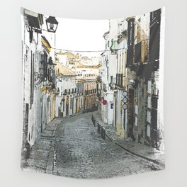 Old Street Wall Tapestry