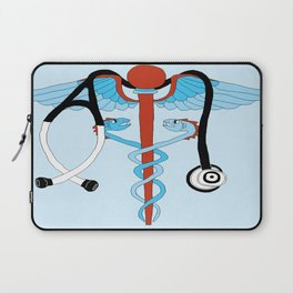 medical caduceus and stethoscope Laptop Sleeve