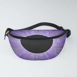 Purple Iris Abstract Universe Art Fanny Pack