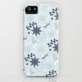 Winter pattern iPhone Case