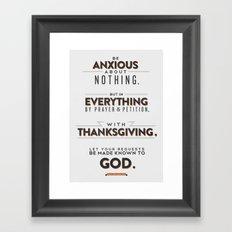 Philippians 4:6 Framed Art Print