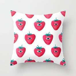 Cry Berry Pattern Throw Pillow